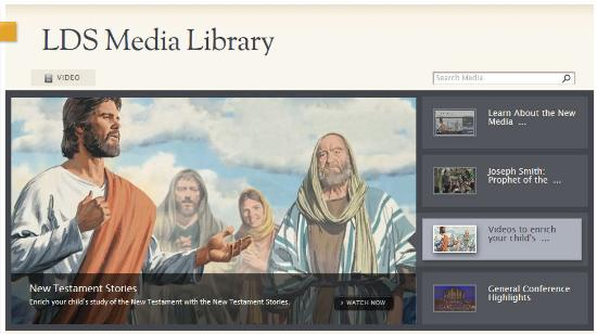 LDS Media Library on LDS.org