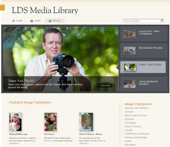 Images Section on LDS Media Library