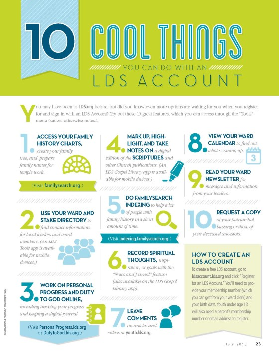 10 Cool Things You Can Do with an LDS Account