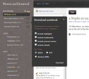 download-lds-notebook