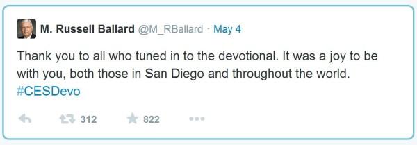 LDS Apostle Tweets
