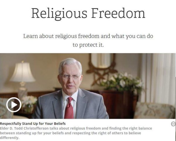 Religious Freedom Website from LDS Church