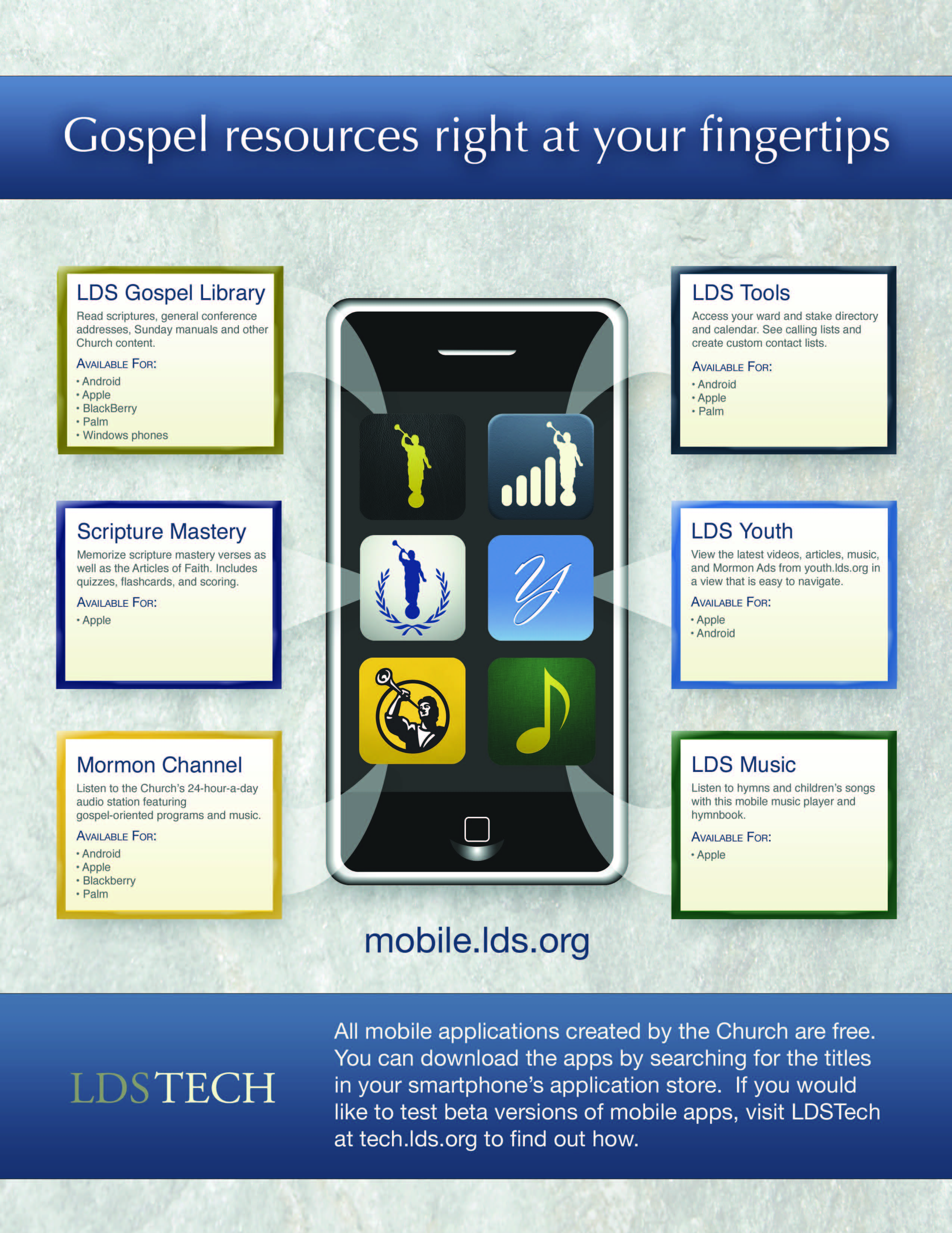 LDS Mobile Apps Infographic | LDS365: Resources from the