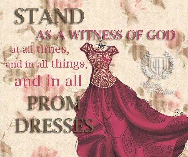 Prom Dresses: LDS Standards