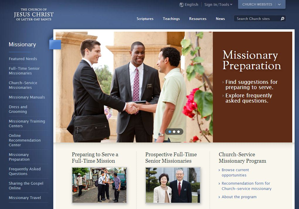LDS Missionary Service Website | LDS365: Resources from the