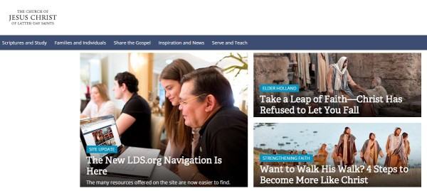New Menus for LDS org | LDS365: Resources from the Church