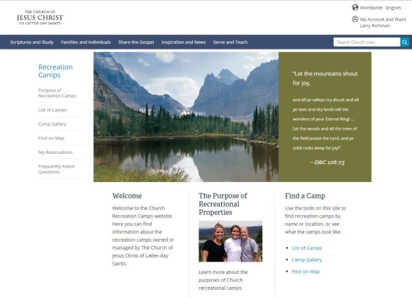 LDS Recreation Camp Website | LDS365: Resources from the Church