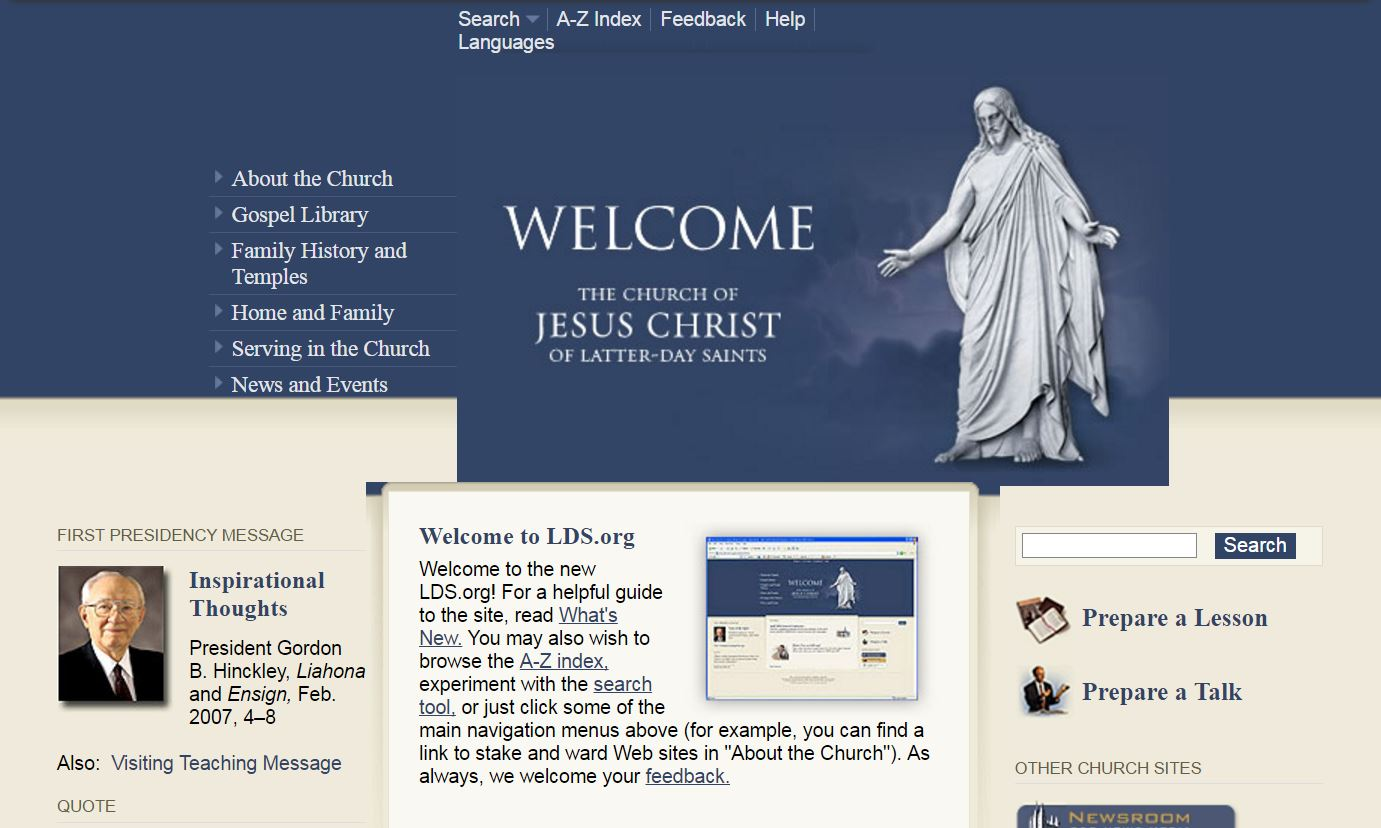 Redesigned LDS.org