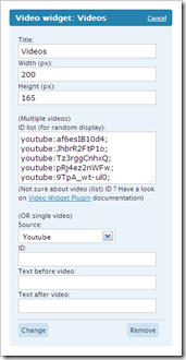 Video Sidebar Widget for WordPress
