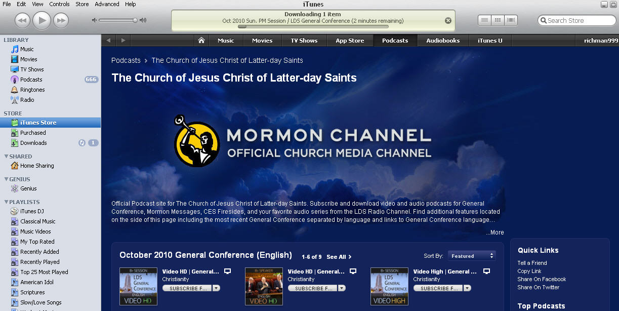 Mormon Channel on iTunes
