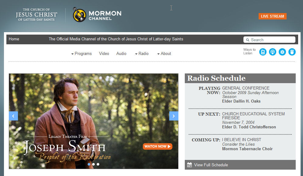Mormon Channel Website Redesigned