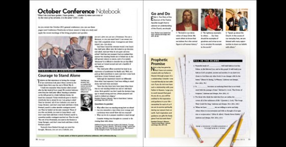 Conference Notebook in Ensign and Liahona