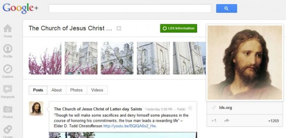LDS Church Page on Google+