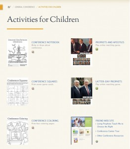 Children's Activities for LDS General Conference
