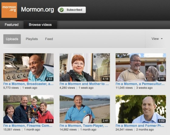 Mormon.org YouTube Channel