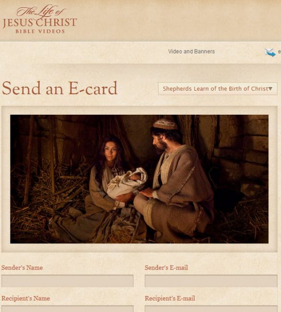 LDS Christmas E-cards from Bible Videos