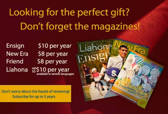 Give Magazine Subscriptions for Christmas