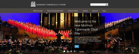 Mormon Tabernacle Choir Website Updated