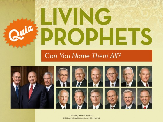 Can you Name the 15 LDS Brethren?