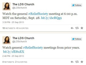 Get Live Updates from LDS Relief Society General Meeting
