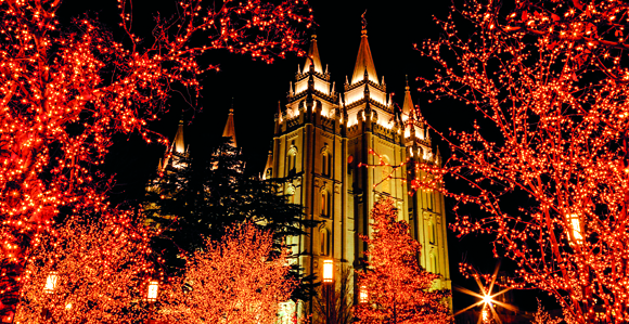 Christmas on LDS Temple Square 2013