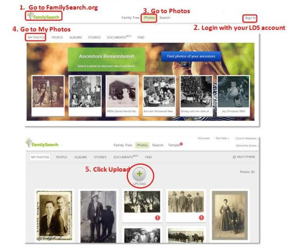 Upload Photos to FamilySearch in 10 Easy Steps