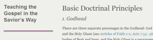 LDS Basic Doctrinal Principles