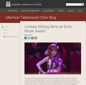 Mormon Tabernacle Choir's Backstory Blog