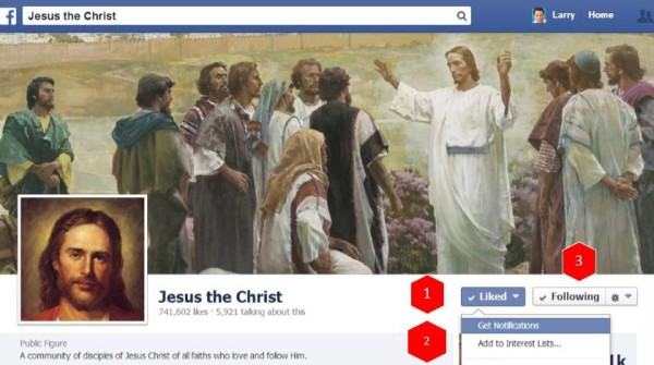 Follow the Jesus the Christ Facebook Page this Easter