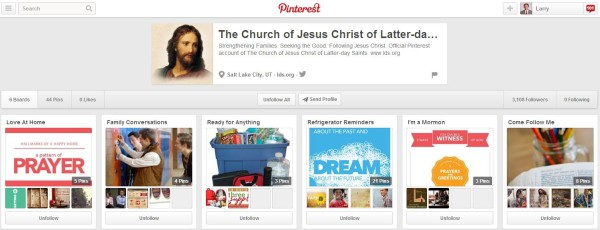 LDS Church Page on Pinterest
