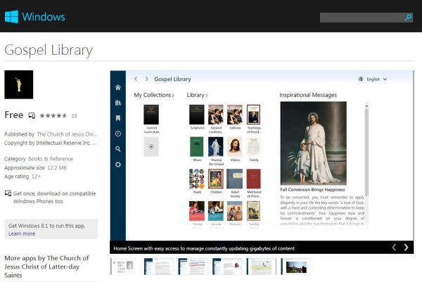 Gospel Library Mobile App for Windows Phones