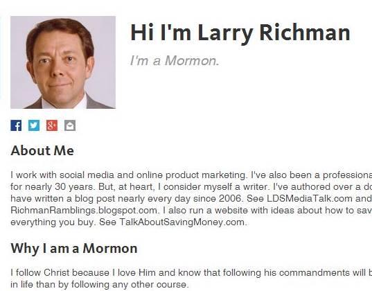 #ShareGoodness Idea: Mormon.org Profile