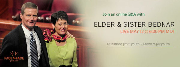 Live #LDSface2face Event with Elder & Sister Bednar May 12