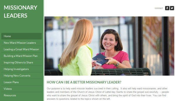 MissionaryLeaders.org Helps LDS Ward Missionary Work