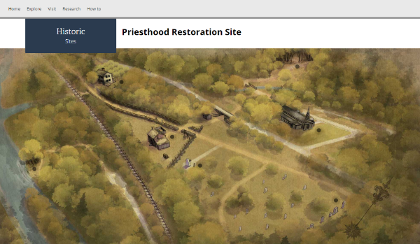 Priesthood Restoration Site Interactive Map