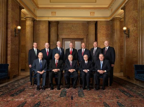Download New Photo of LDS Quorum of the Twelve & General Authorities Chart