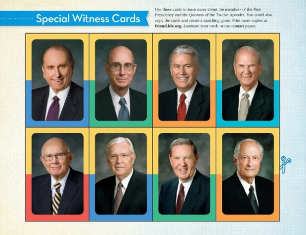 For Kids: LDS Apostles Matching Game