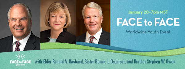 Live #LDSface2face Event with Elder Rasband Jan 20
