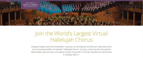 Sing Messiah Hallelujah Chorus with the Mormon Tabernacle Choir