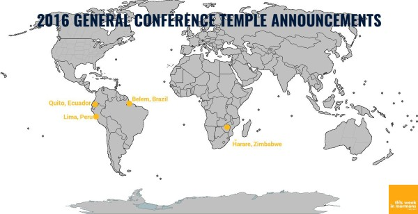 Four New LDS Temples Announced