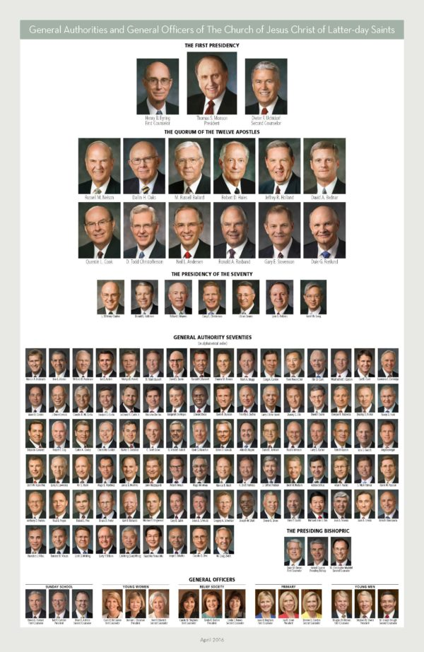 Download LDS General Authority Chart