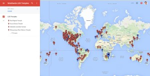 Interactive Map of LDS Temple Worldwide