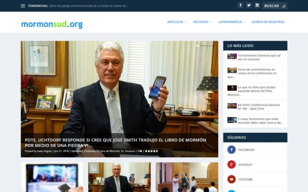 Mormon SUD Websites in Spanish and Portuguese