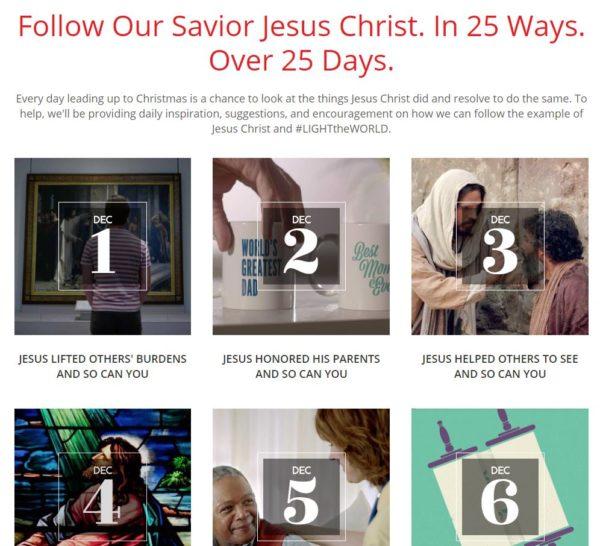 #LightTheWorld Christmas Service Advent Calendar, Dec 5-11