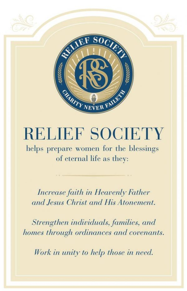 Updates to LDS Relief Society Purpose Statement
