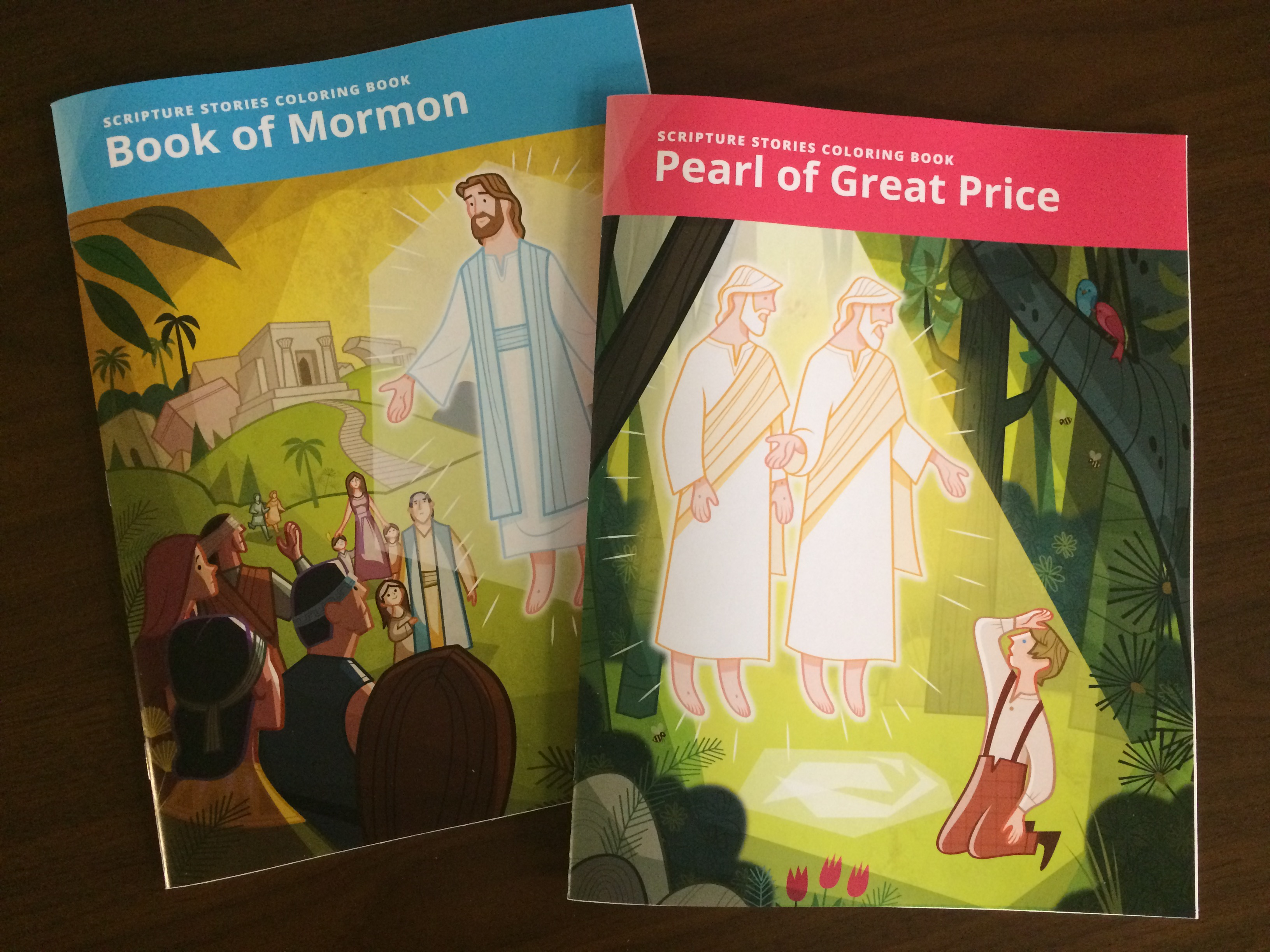 LDS Scriptures Stories Coloring Books