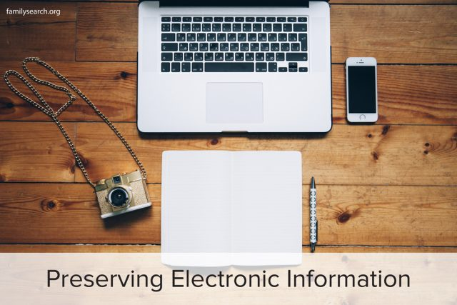Preserving Electronic Family History Information