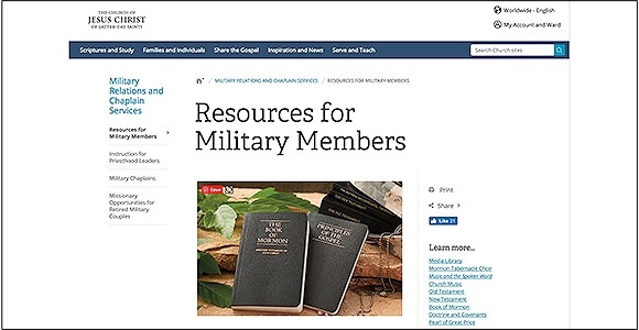 LDS Church Supports Members in Military Service
