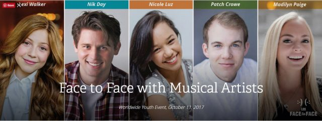 LDS Face to Face with Musicians, October 11, 2017
