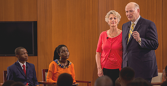 Find Out What Elder and Sister Renlund Told the LDS Youth of Africa